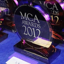 Management Consultancies Association 'MCA Awards' trophies