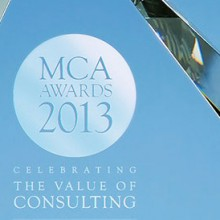 Management Consultancies Association 'MCA Awards' trophy
