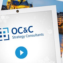 OC&C Stategy Consultants seasonal e-card and video
