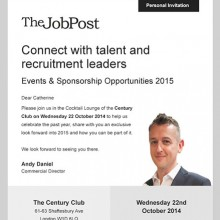 TheJobPost personalised event and sponsorship invitation