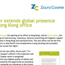 Zolfo Cooper announcement email